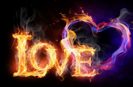 Cool Fire Hearts Wallpapers Love wallpapers 530x350