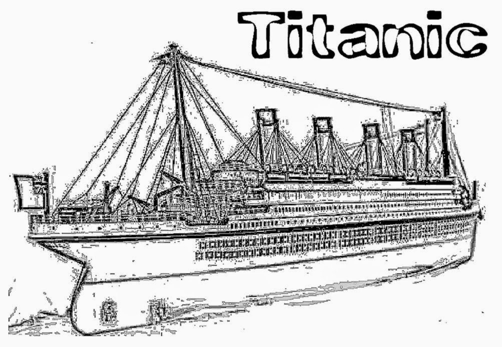 coloring pages titanic - photo#22
