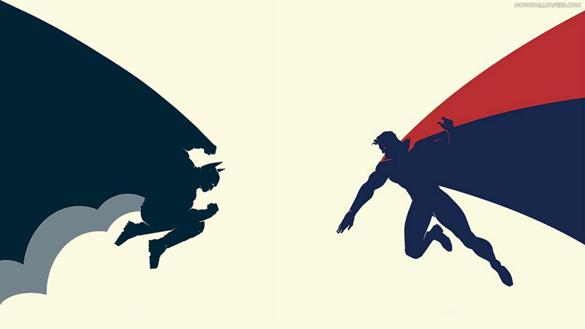 NoVa Batman vs Superman Batman Vs Superman Dawn Of Justice Minimalist 1920x1080