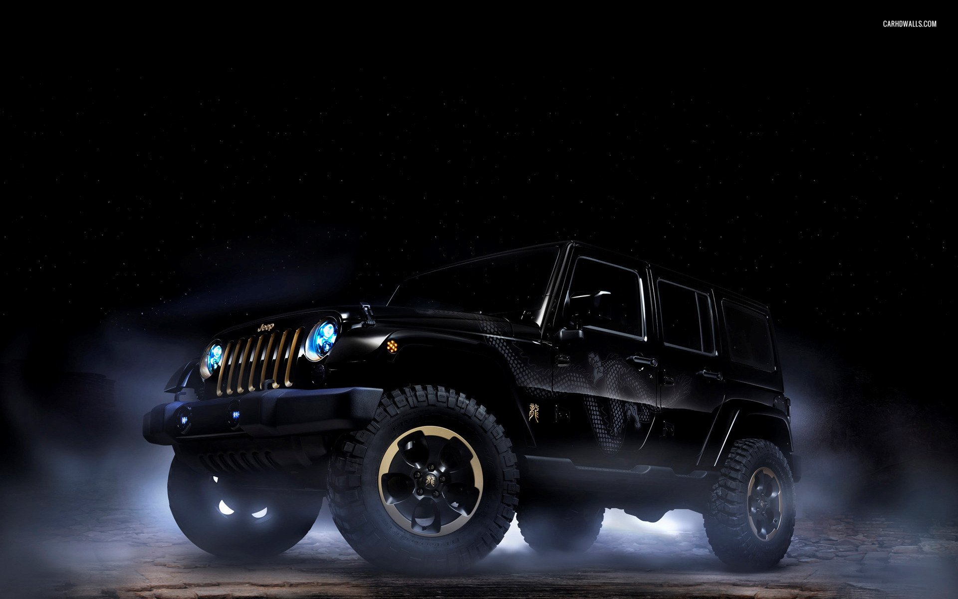 Jeep Wrangler Dragon Design HD Wallpaper Background Image 1920x1200