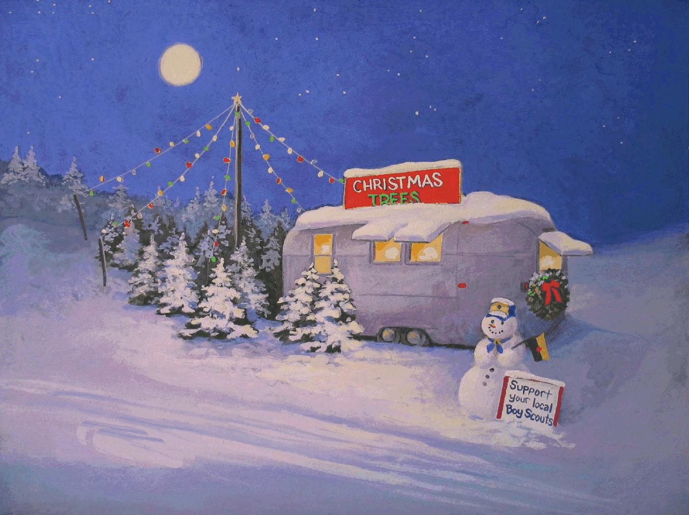 Christmas Desktop Wallpapers Painting For Desktops 1352x1011