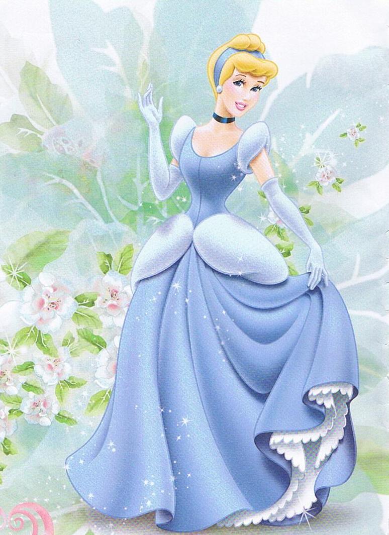 Free Download Disney Princess Cinderella Wearing Blue Dress
