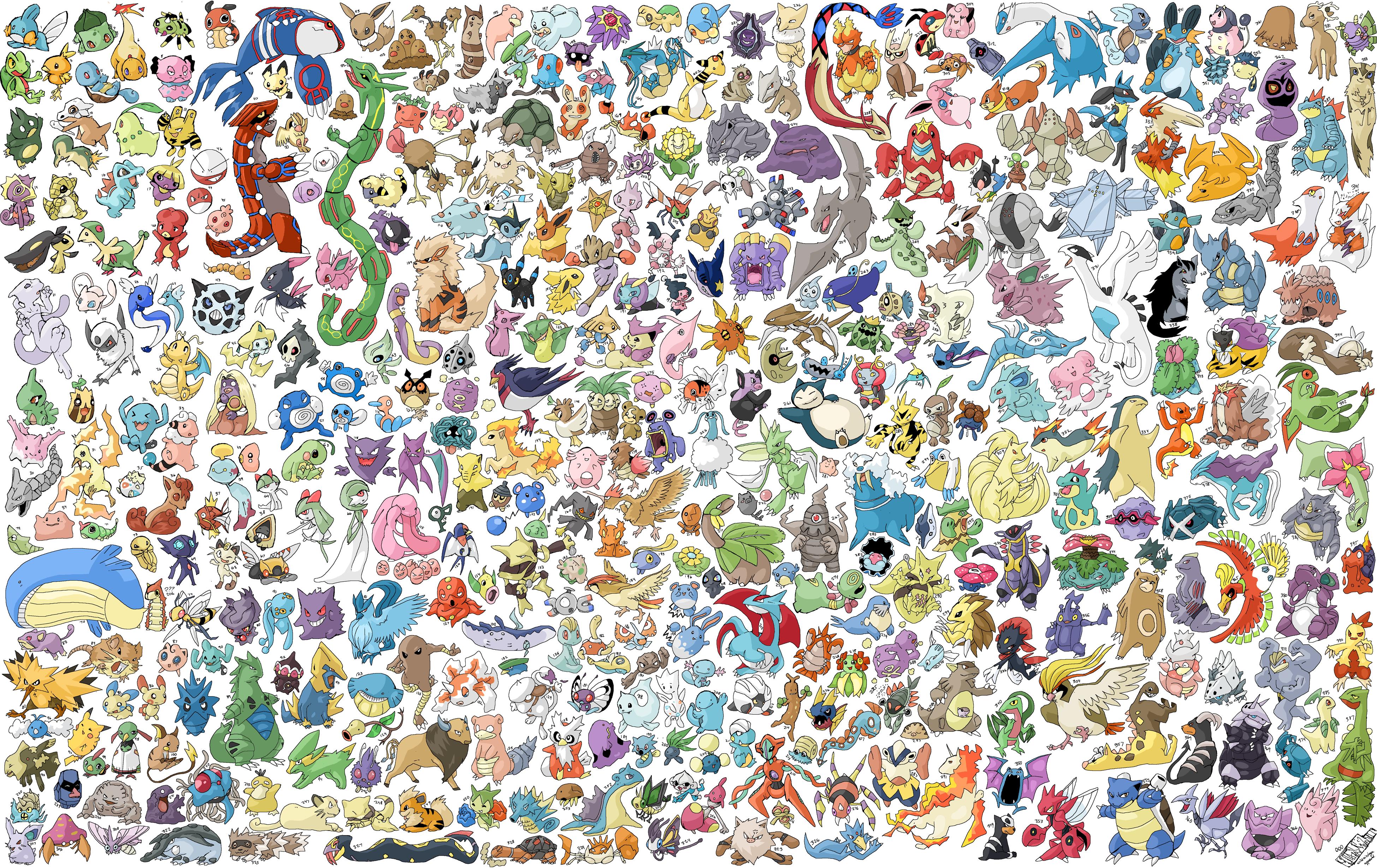 All Pokemon Wallpaper wallpaper wallpaper hd background desktop 3900x2459