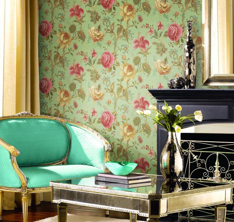 flower wallpaper and green sofa for bedroom bedroom 3d wallpaper 814x774