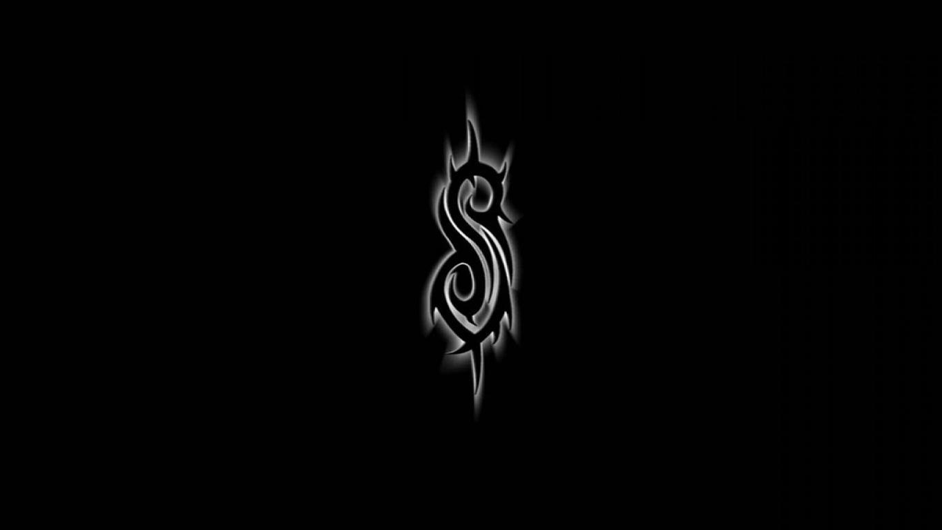 Slipknot Logo 25418 1366768 px fond ecran 1366x768