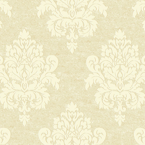 Gold and Cream Etched Damask Wallpaper   Wall Sticker Outlet 600x600
