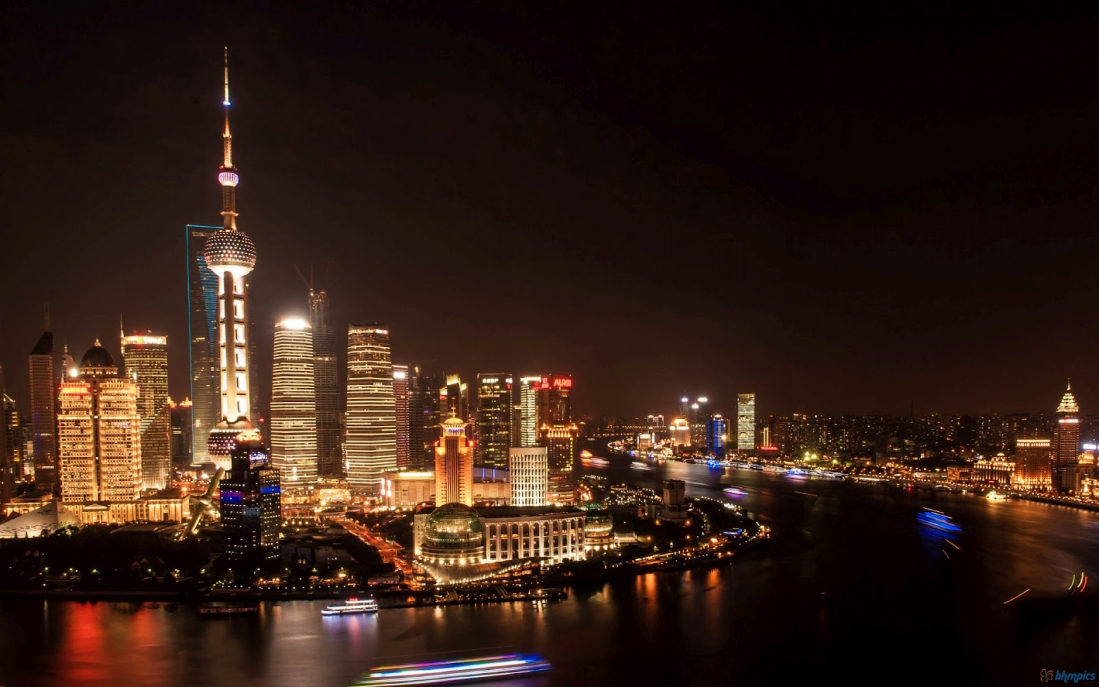 Shanghai Night Light Wallpaper Shanghai Night Light Wallpaper 1600x1000