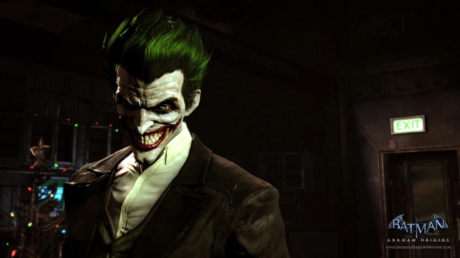 Batman Arkham Origins The Joker Wallpaper HiresMOVIEWALLcom 1600x900