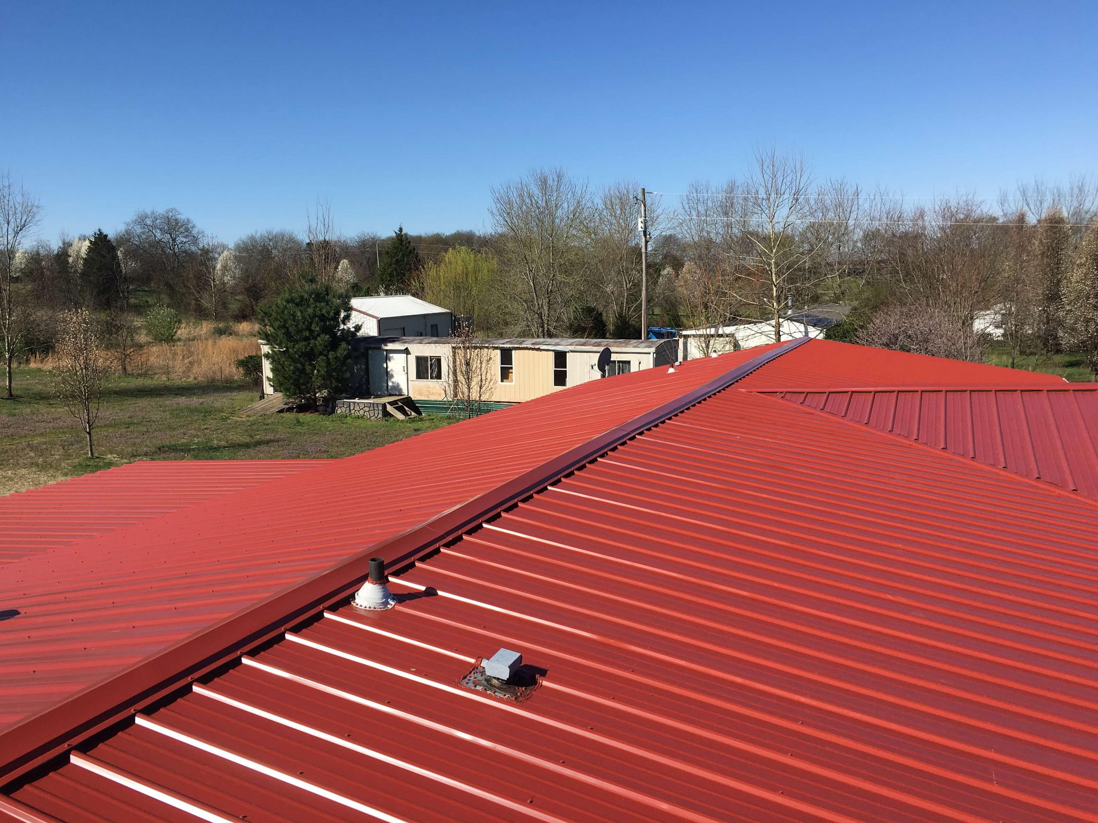 HD wallpaper metal roof red metal roof roofing tree 3840x2880
