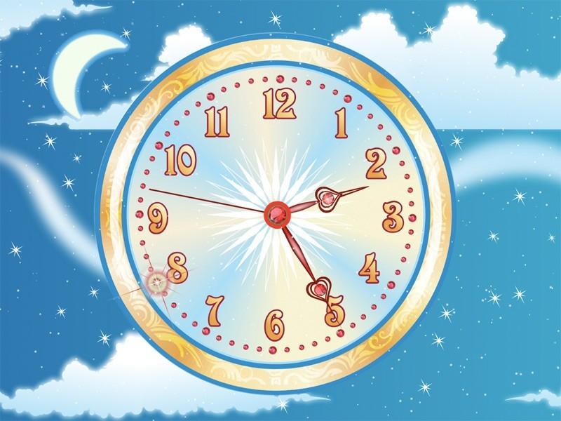 7art aquarium clock live animated