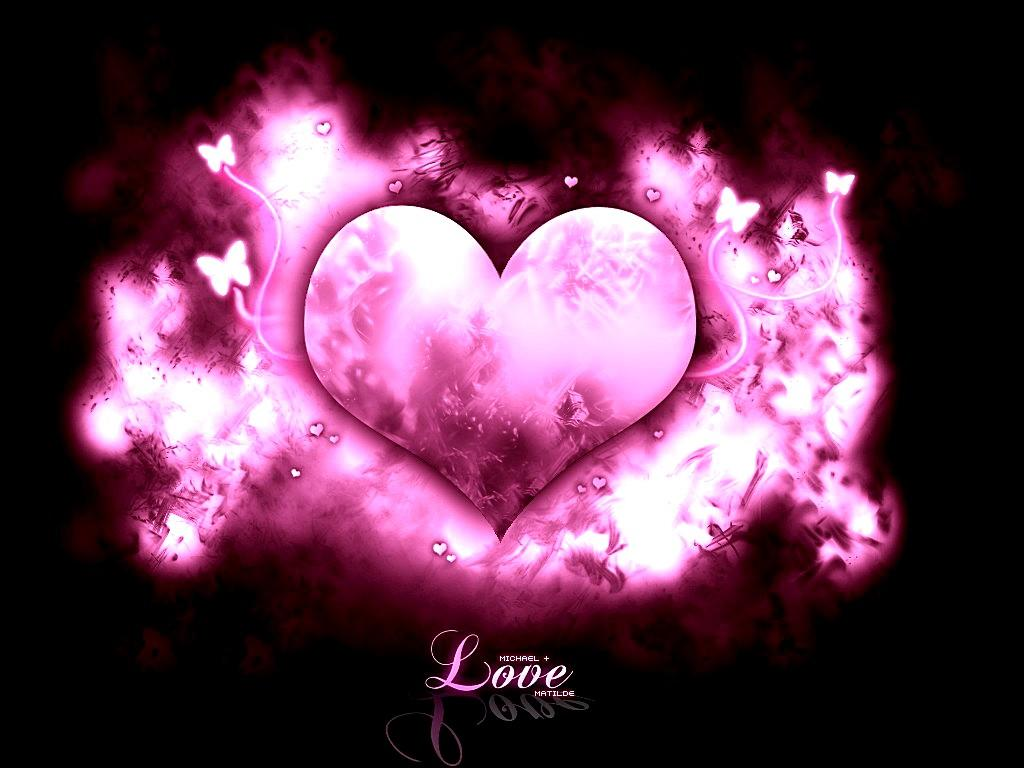Valentine Wallpapers Pink Valentine Heart Wallpapers Pink Heart 1024x768