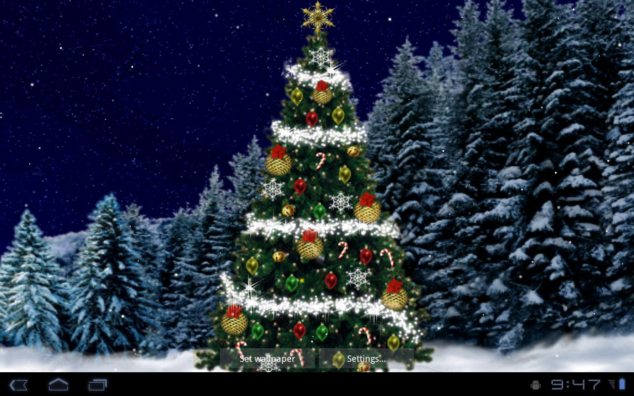 Christmas Tree Live Wallpaper   Google Play Android 1280x800
