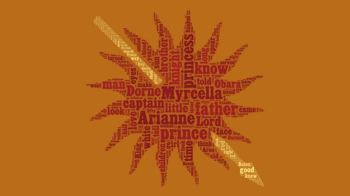 Free download ASOIAF Word Cloud Dorne A Song of Ice and Fire