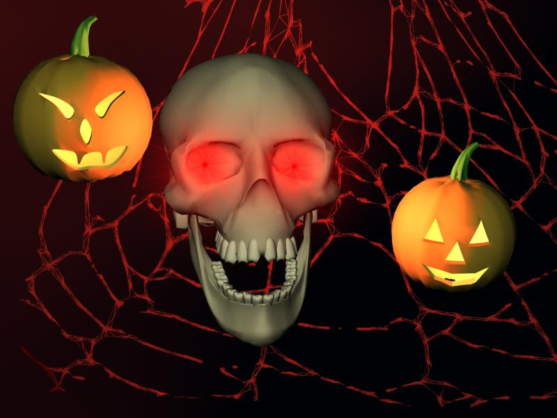 Screenshot   3D Halloween Horror screensaver   Seasonal Screen Savers 800x600