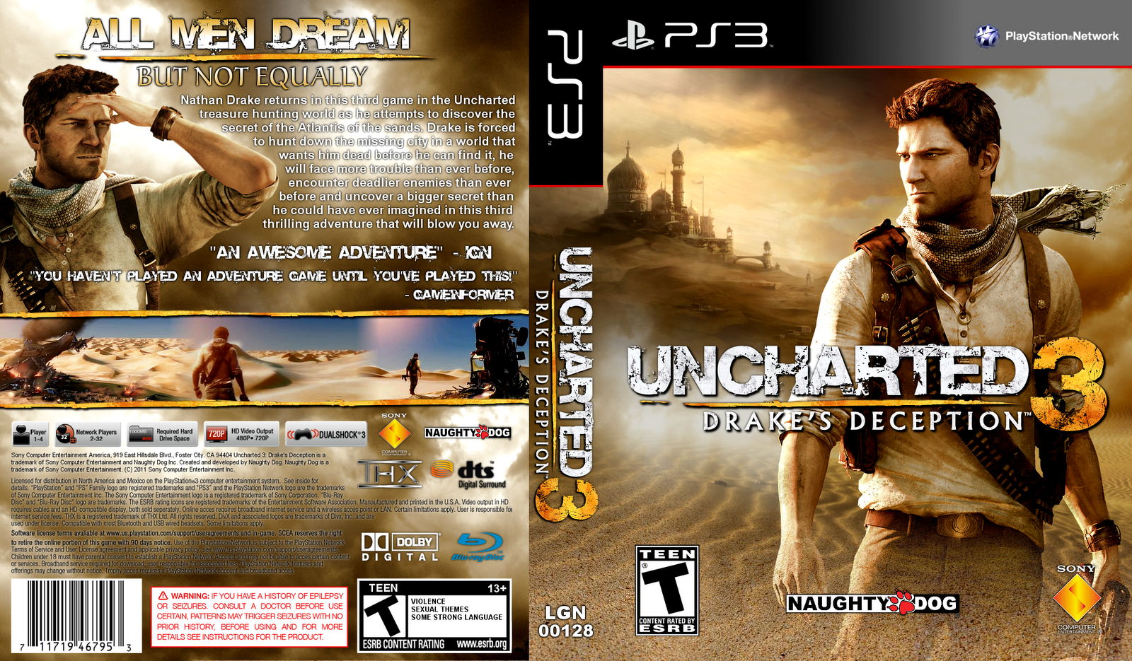 Uncharted 3 Drakes Deception HD Wallpaper Cover Download 1600x935