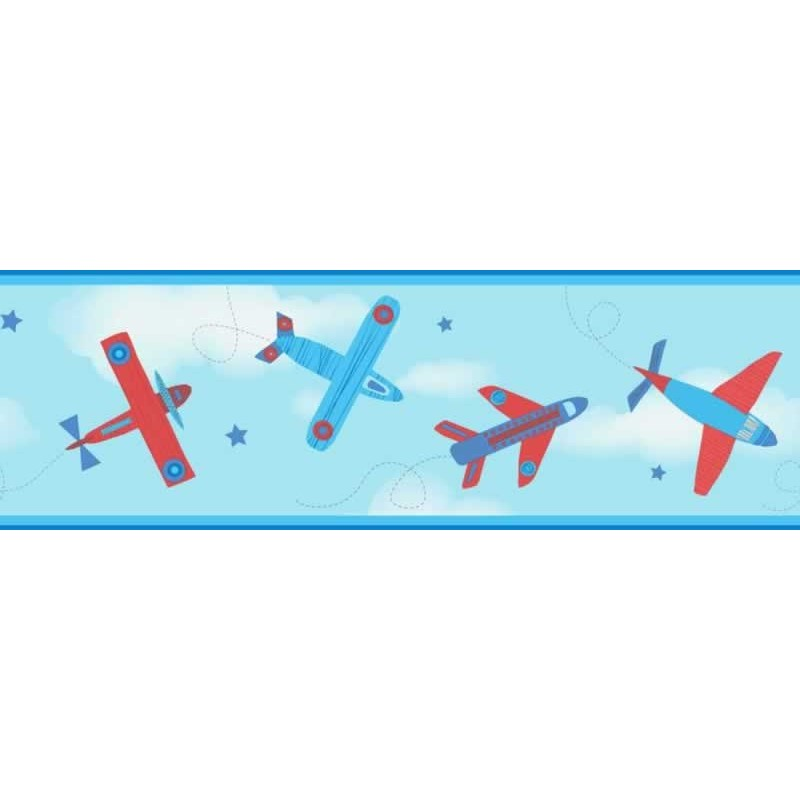 Free Download Buy Planes Red Border Fd Dlb50086 Blue Kids