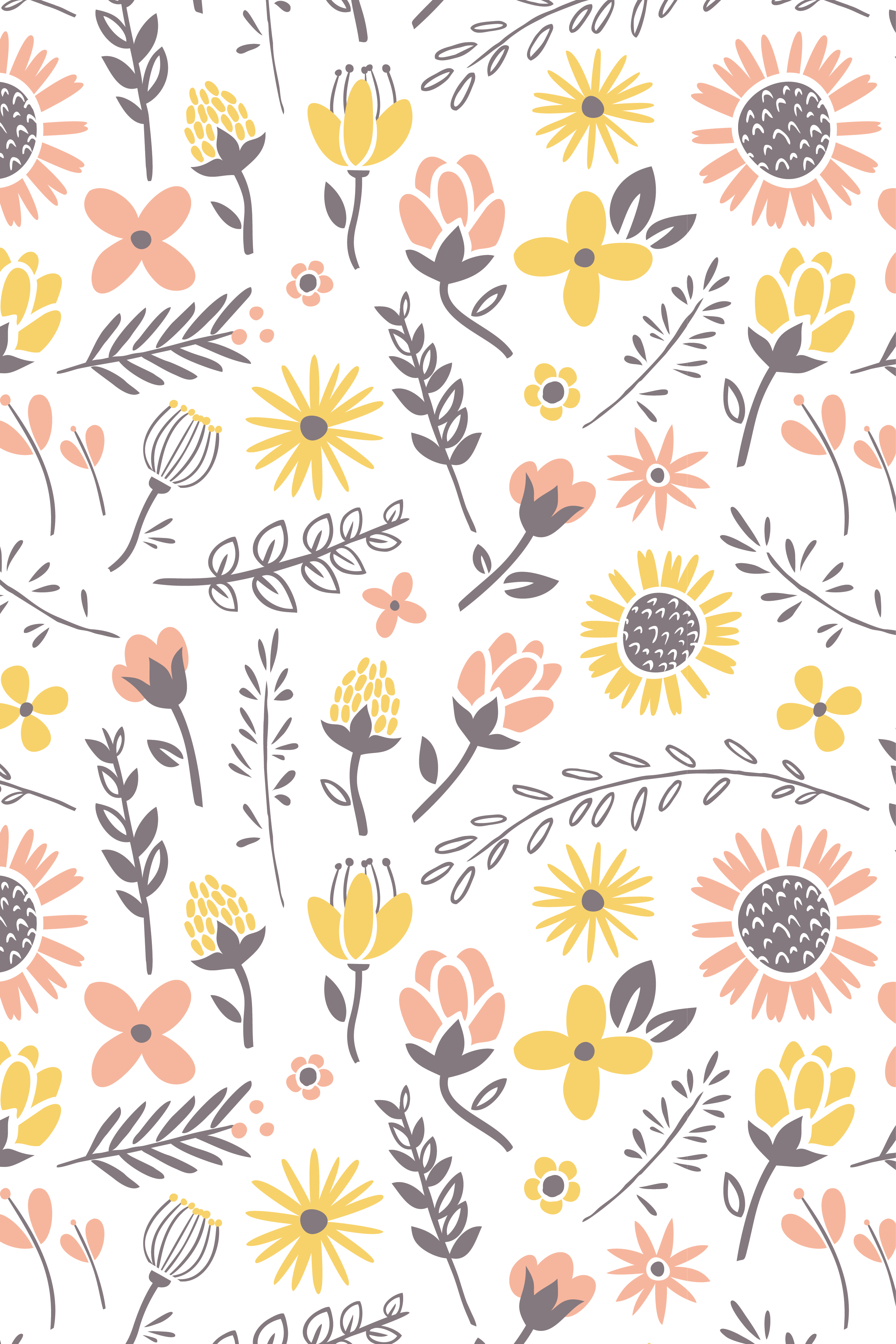 Free Download Flowers Iphone Wallpaper Cute Patterns Phone