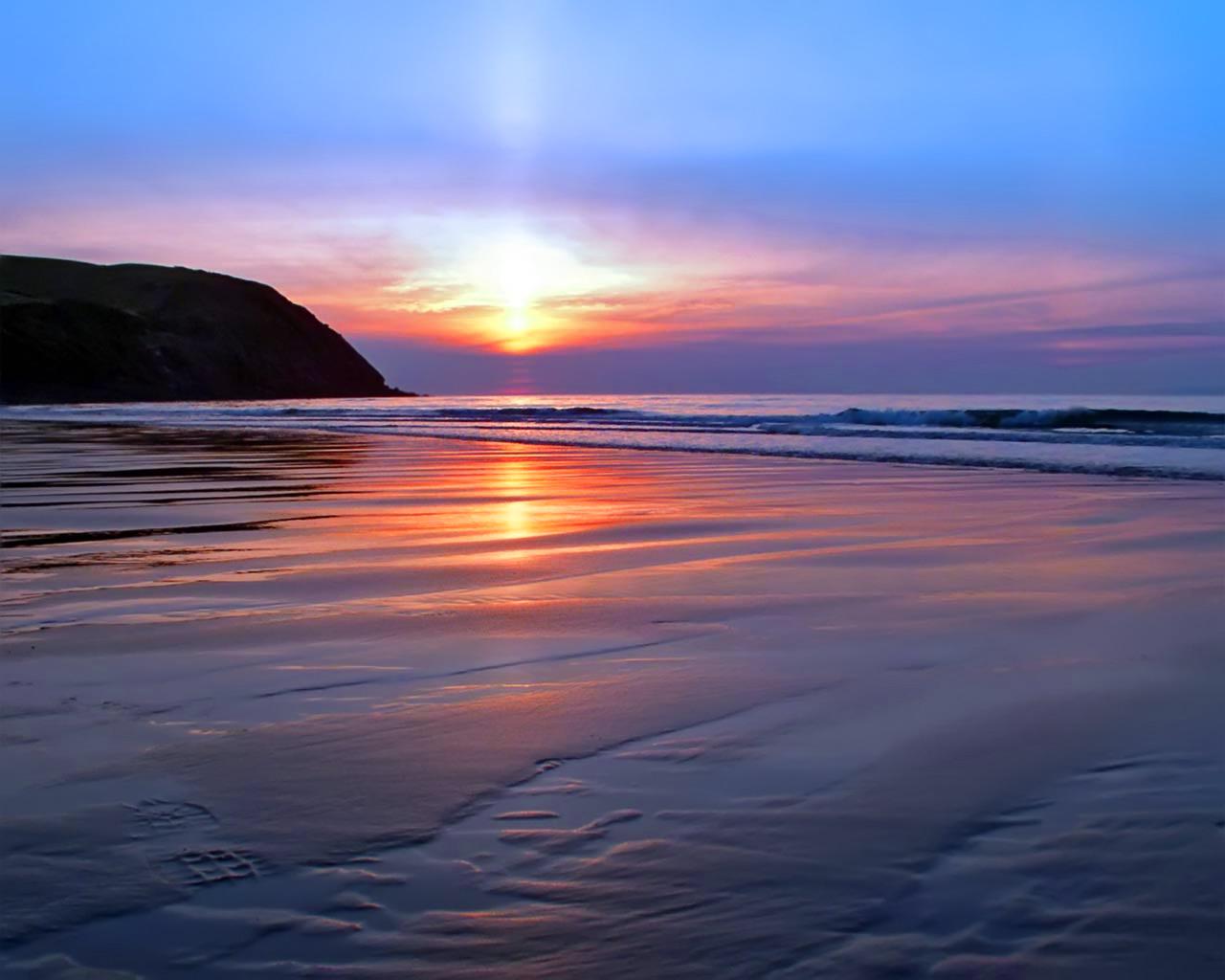 beach sunset wallpaper 1280x1024