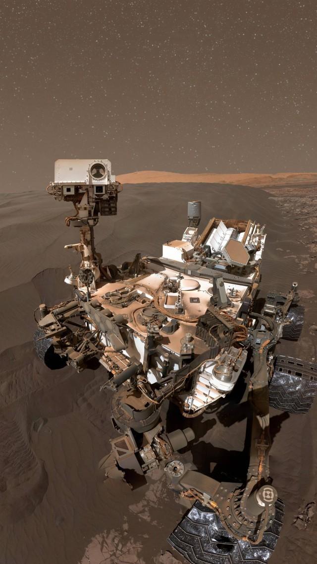 Wallpaper Curiosity Rover selfie mars duna Hi Tech 8716 640x1138