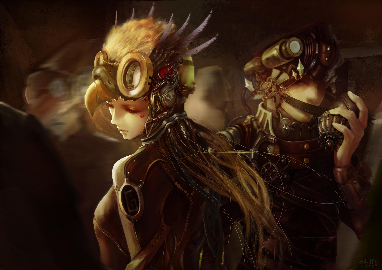 cyborg steampunk sci fi wallpaper 3000x2121 124817 WallpaperUP 3000x2121