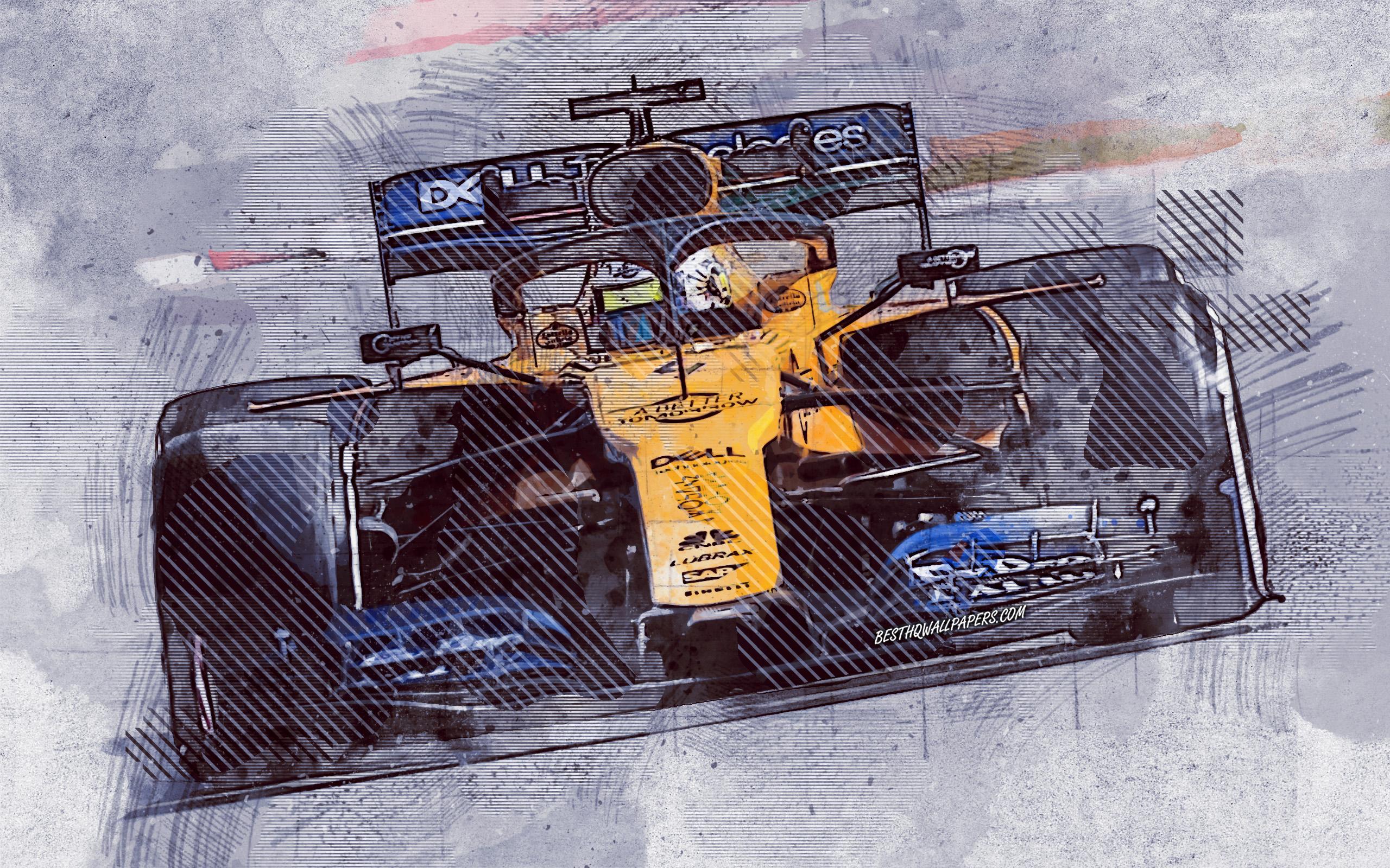 Download wallpapers Lando Norris McLaren F1 Team Formula 1 2560x1600