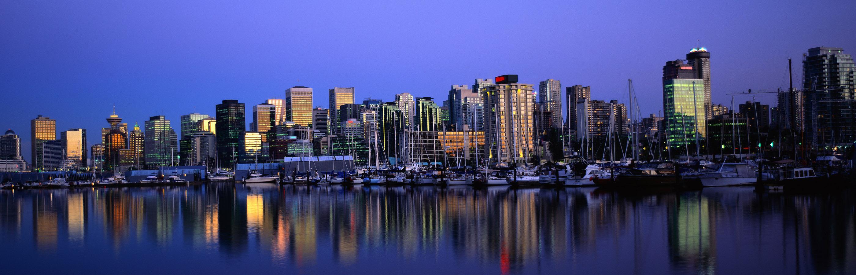 Vancouver Skyline Desktop and mobile wallpaper Wallippo 2800x900