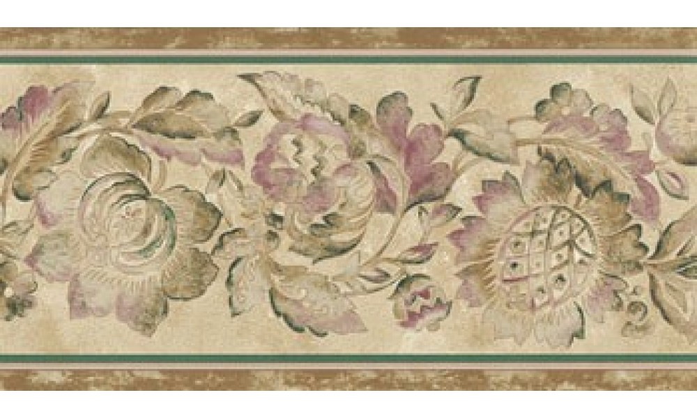 Home Brown Flower Wallpaper Border 1000x600