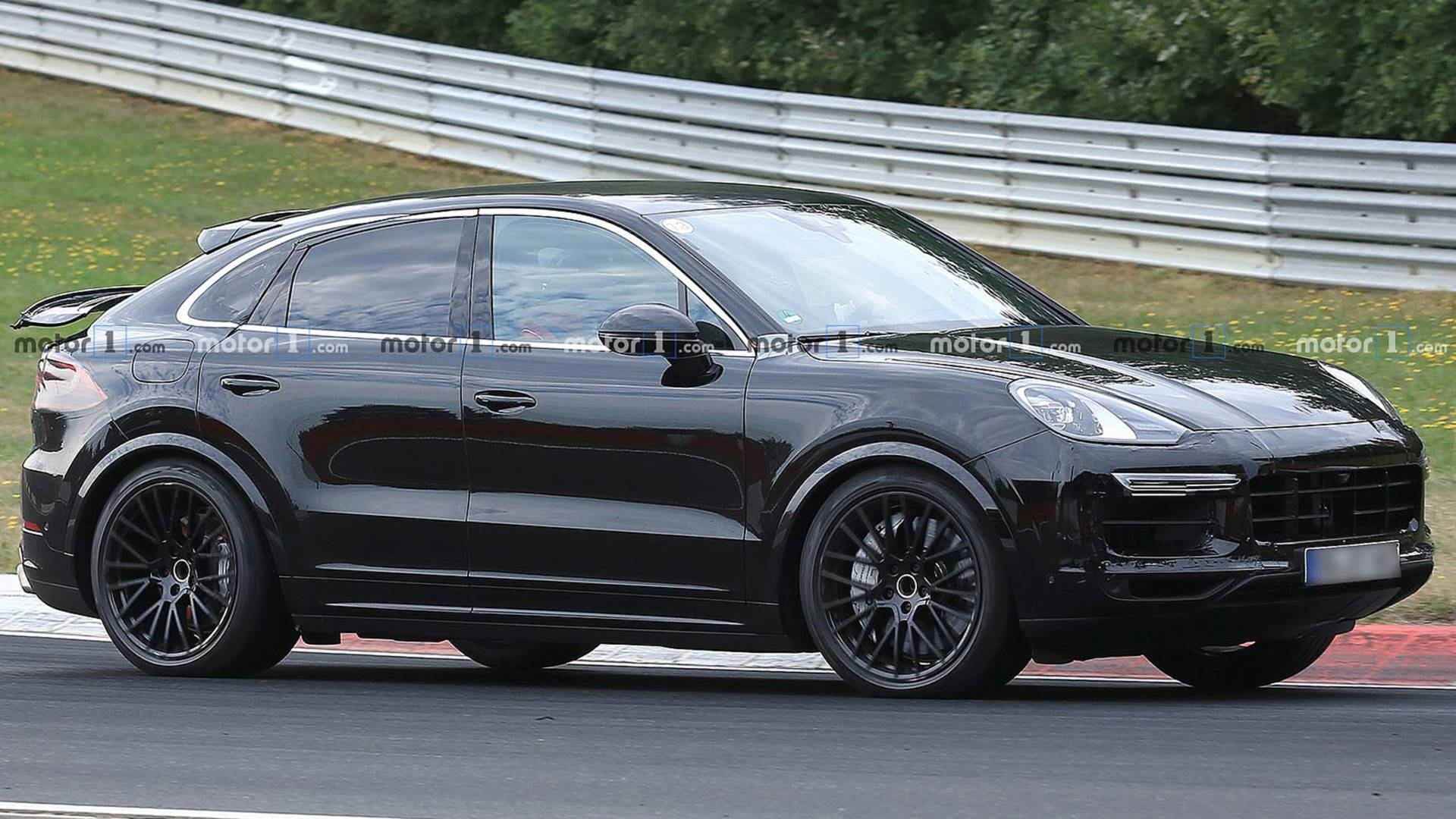 Porsche Cayenne Coupe Spied Showing Off Its Weird Rear Wing 1920x1080