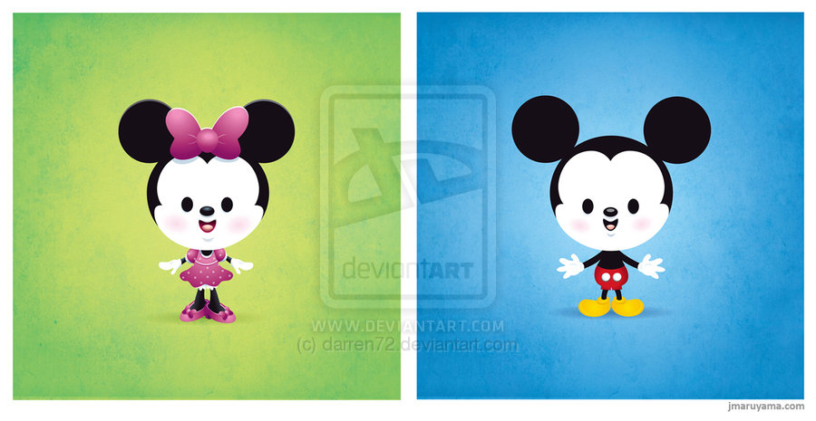 Kawaii Mickey and Minnie by darren72 900x465