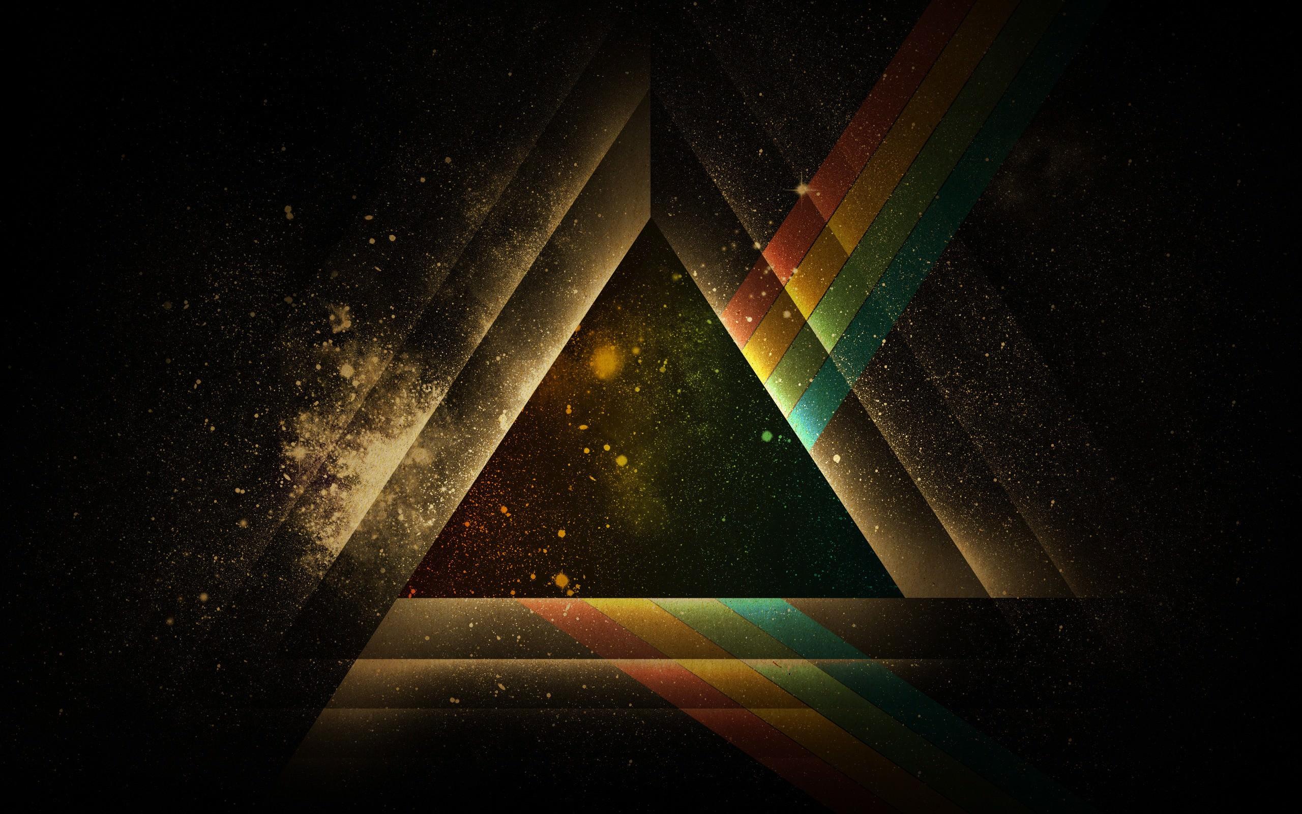 Pink Floyd Abstract Prism Wallpaper   DigitalArtio 2560x1600