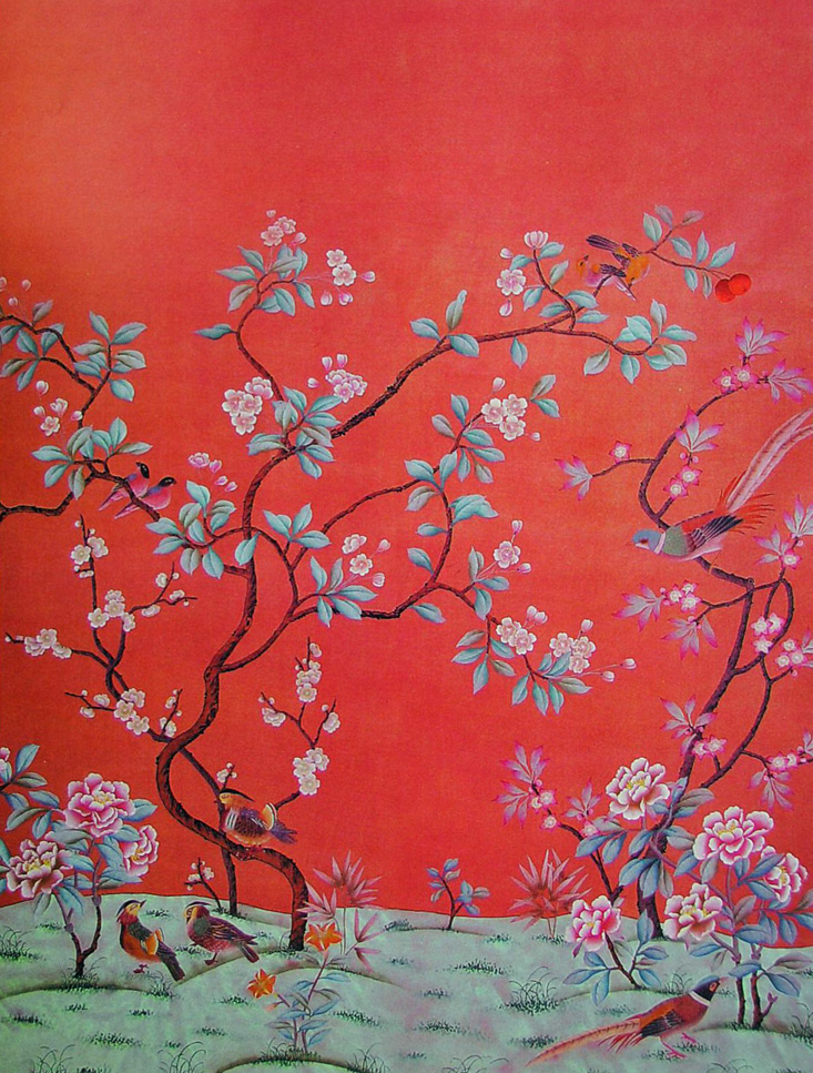 50 Hand Painted Chinoiserie Wallpaper On Wallpapersafari