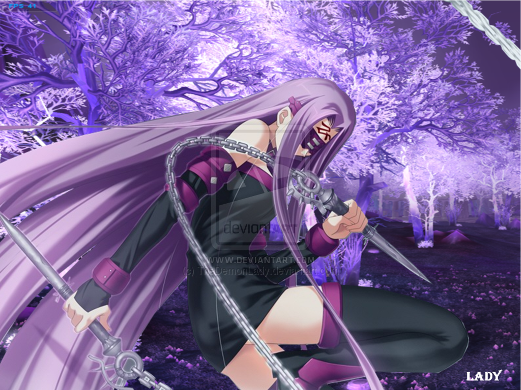 Rider 2  purple forest  Fate Stay Night by TheDemonLady 1024x768