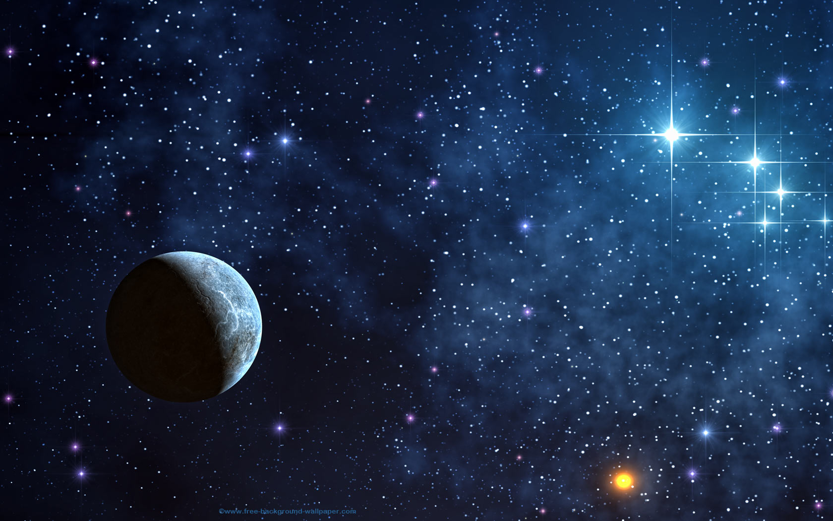 Shinning Stars Space Picture Space Desktop Background 1680x1050