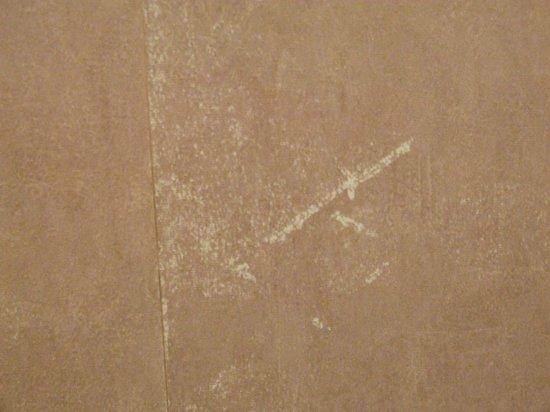 Worn suede look wallpaper   Picture of Britannia Lodge Gatwick 550x412