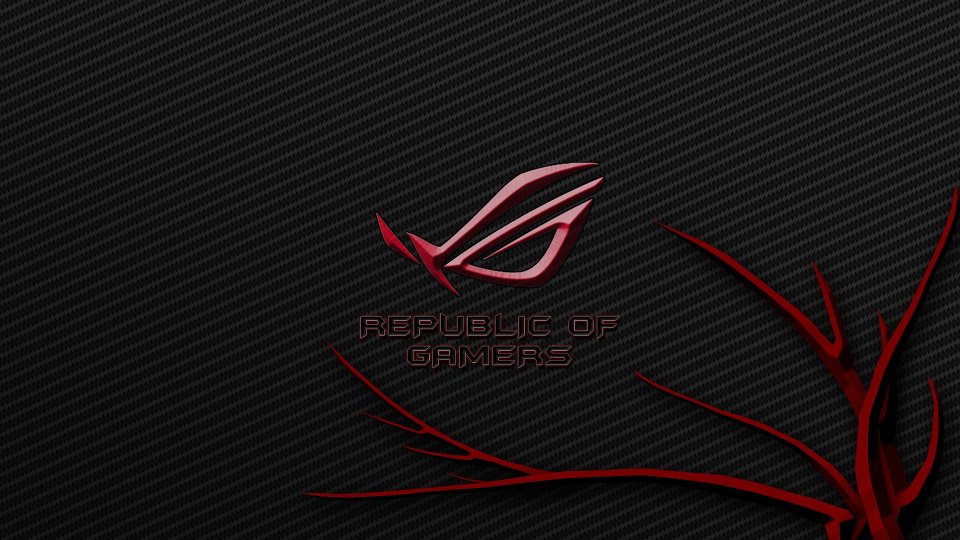Red Asus Wallpaper: ROG Wallpaper Full HD