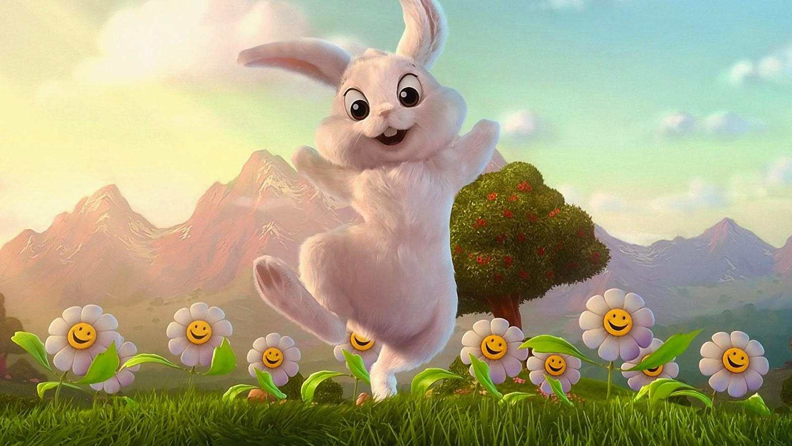 Funny Easter Bunny Wallpaper Cartoon Wallpapers 1600x900