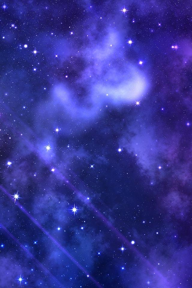 Purple Star Space IPhone HD Wallpaper 640x960