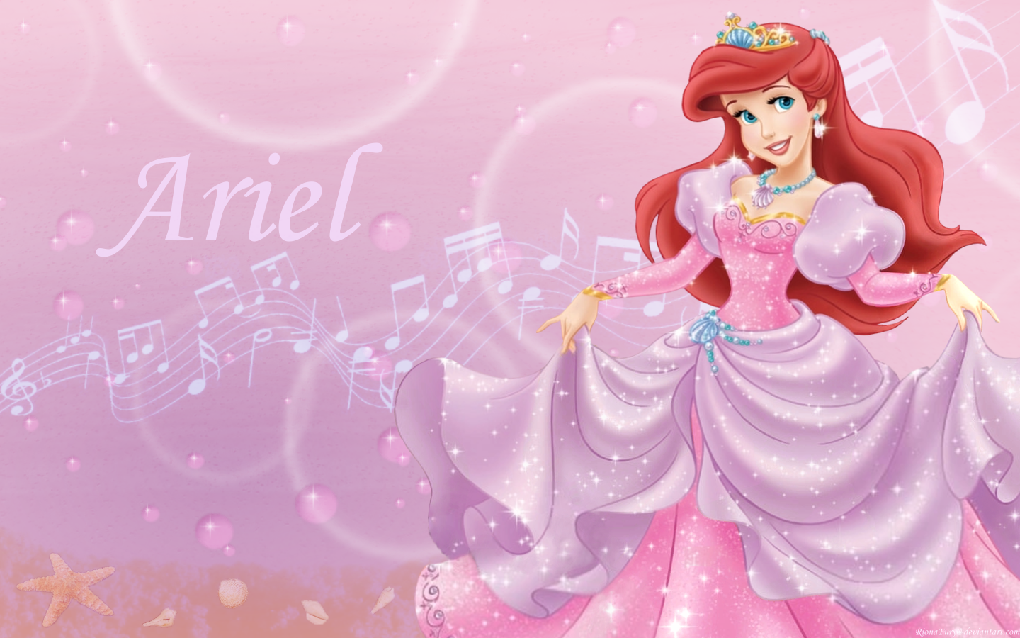 Disney Princess Ariel wallpaper WallpapersHello KittyPretty thi 1440x900