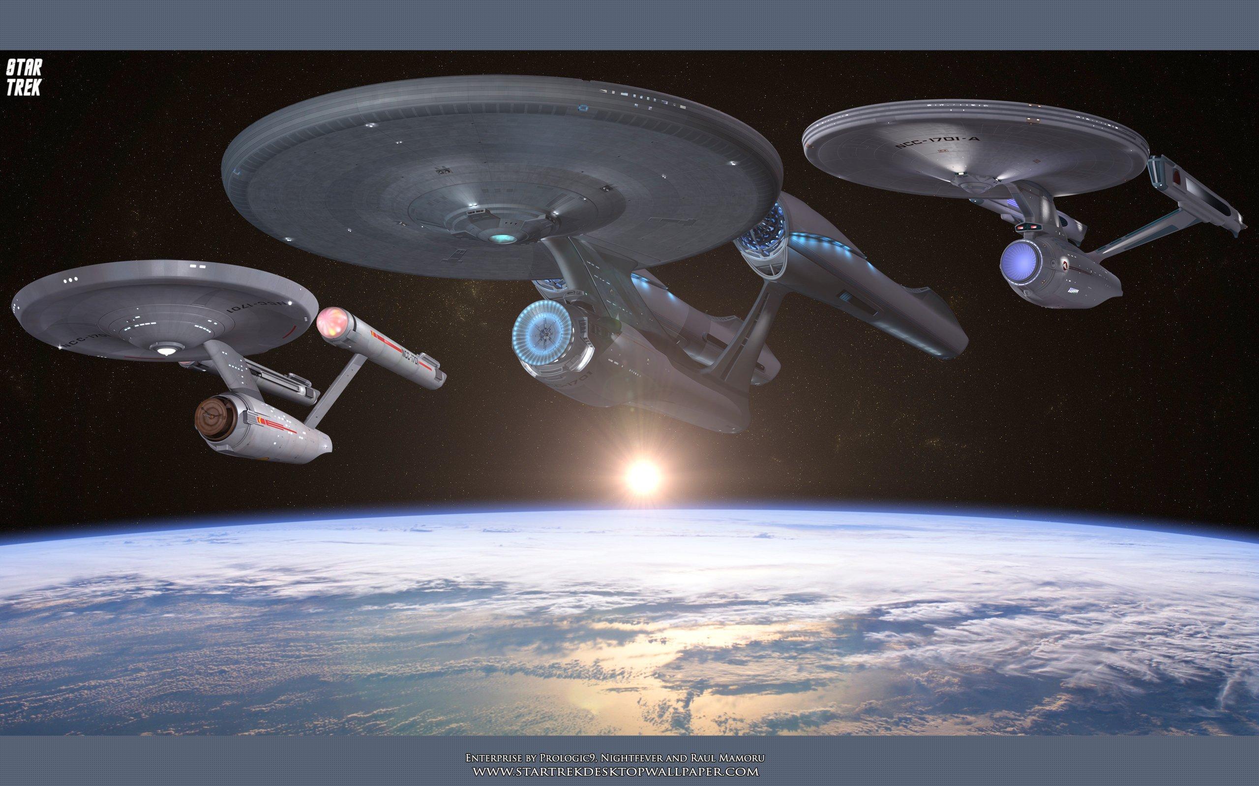 USS Enterprise   Star Trek computer desktop wallpaper pictures 2560x1600