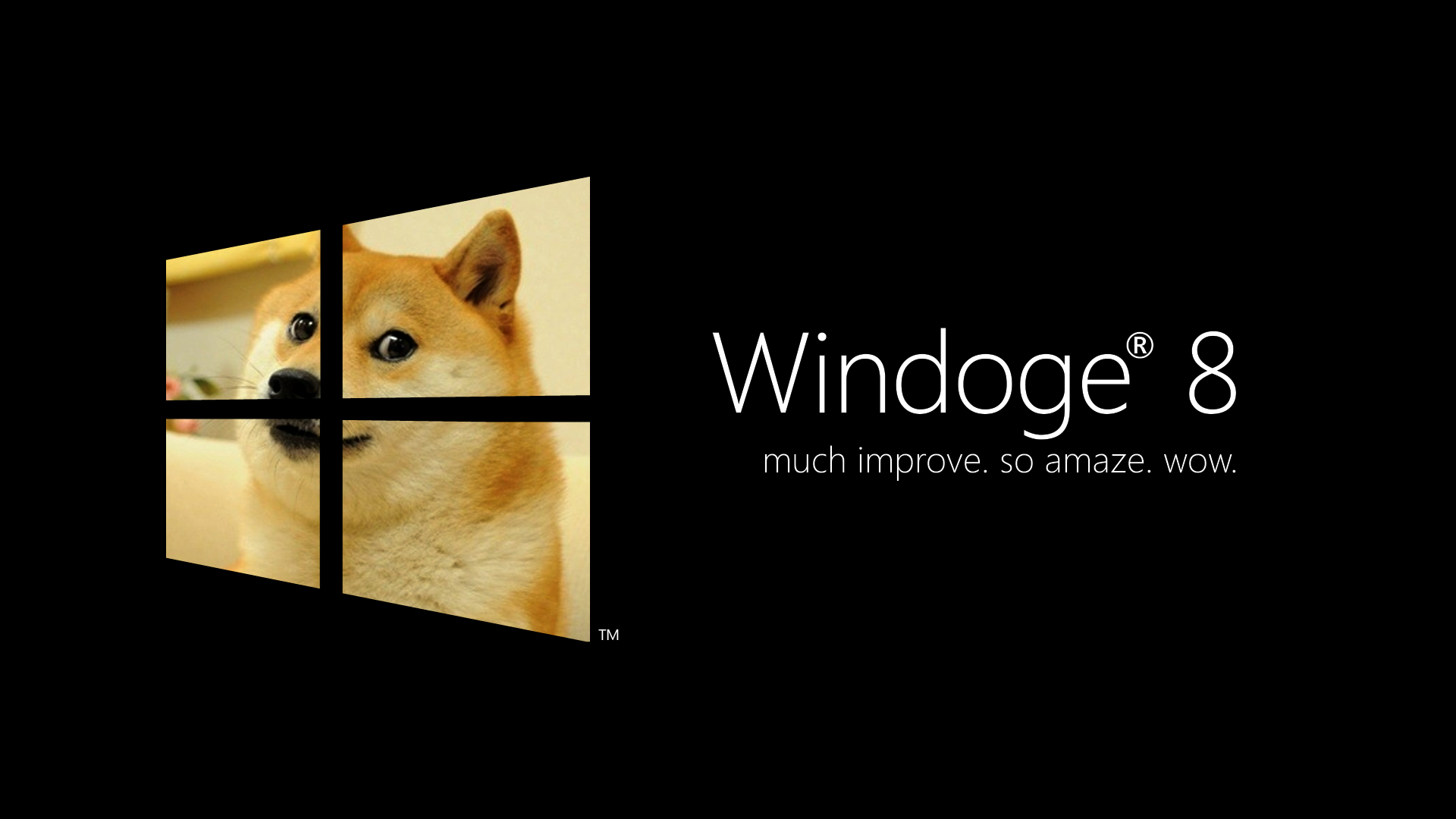 Windoge 8 Black   Doge Wallpaper 1920x1080 26399 1920x1080