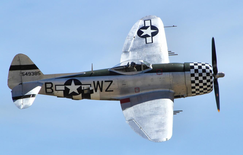 Wallpaper flight fighter Thunderbolt P47 images for desktop 1332x850