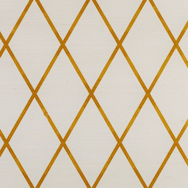 Yellow Trellis Wallpaper: Gold Lattice Wallpaper