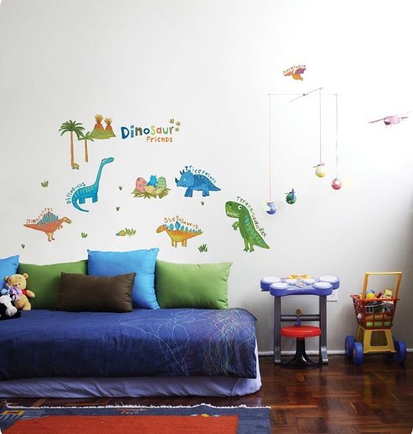 Dinosaur wallpaper for kids room wallpapersafari for Dinosaur wall decals for kids rooms