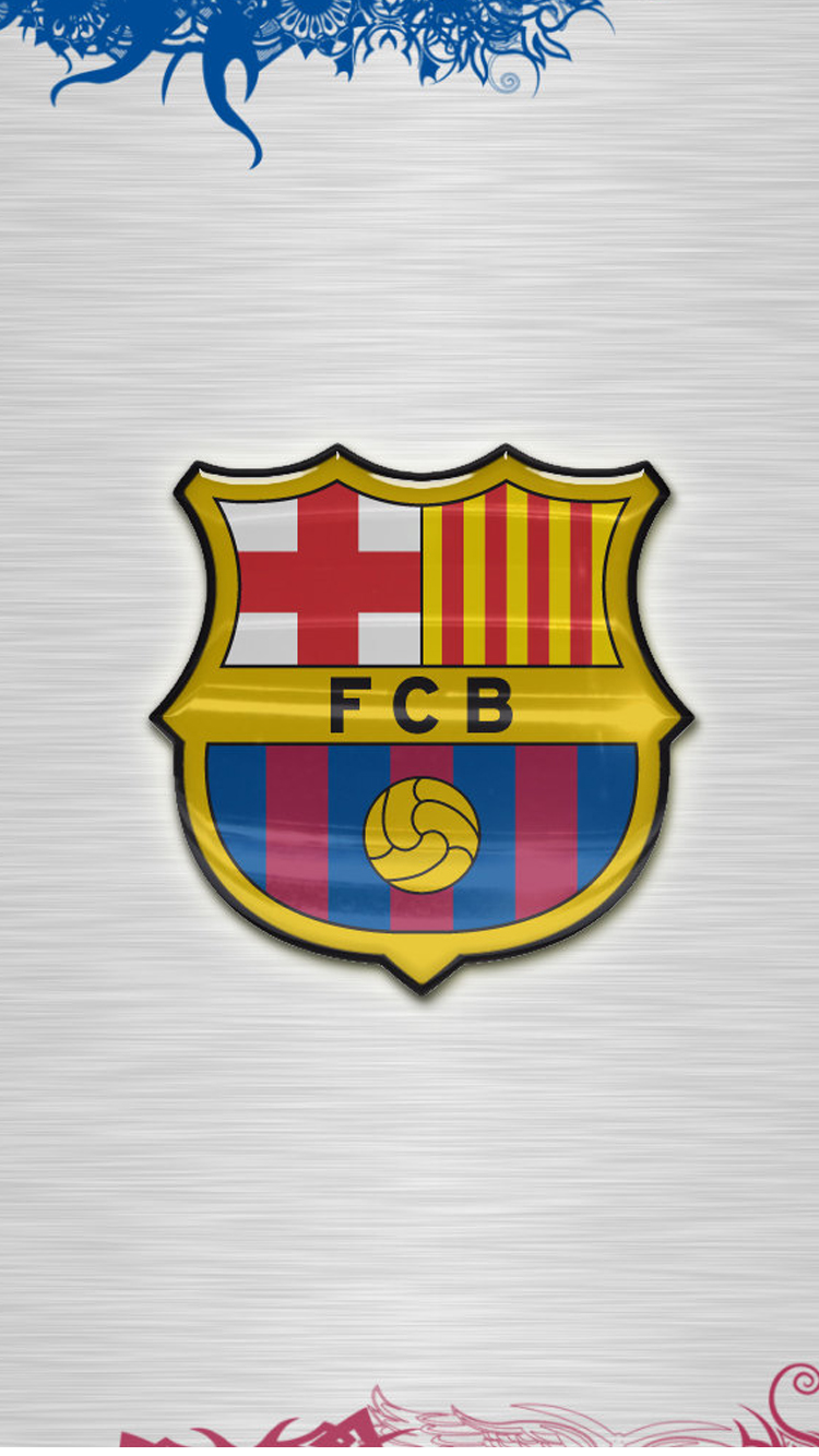 Apple iPhone 6 HD Wallpaper with Barcelona FC Logo HD Wallpapers for 750x1334