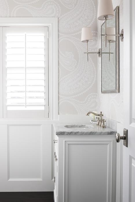 Wallpaper for Bathrooms Traditional Bathroom Marianne Simon Design 467x700