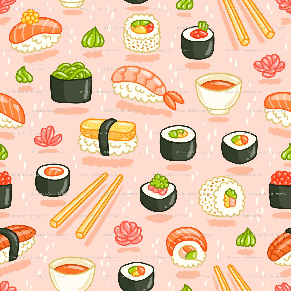 Kawaii Sushi Wallpapers on WallpaperDog 1125x1125