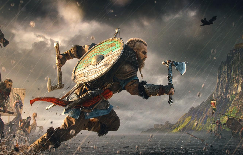 Wallpaper Battle Assassins Creed The Vikings Assassins Creed 1332x850