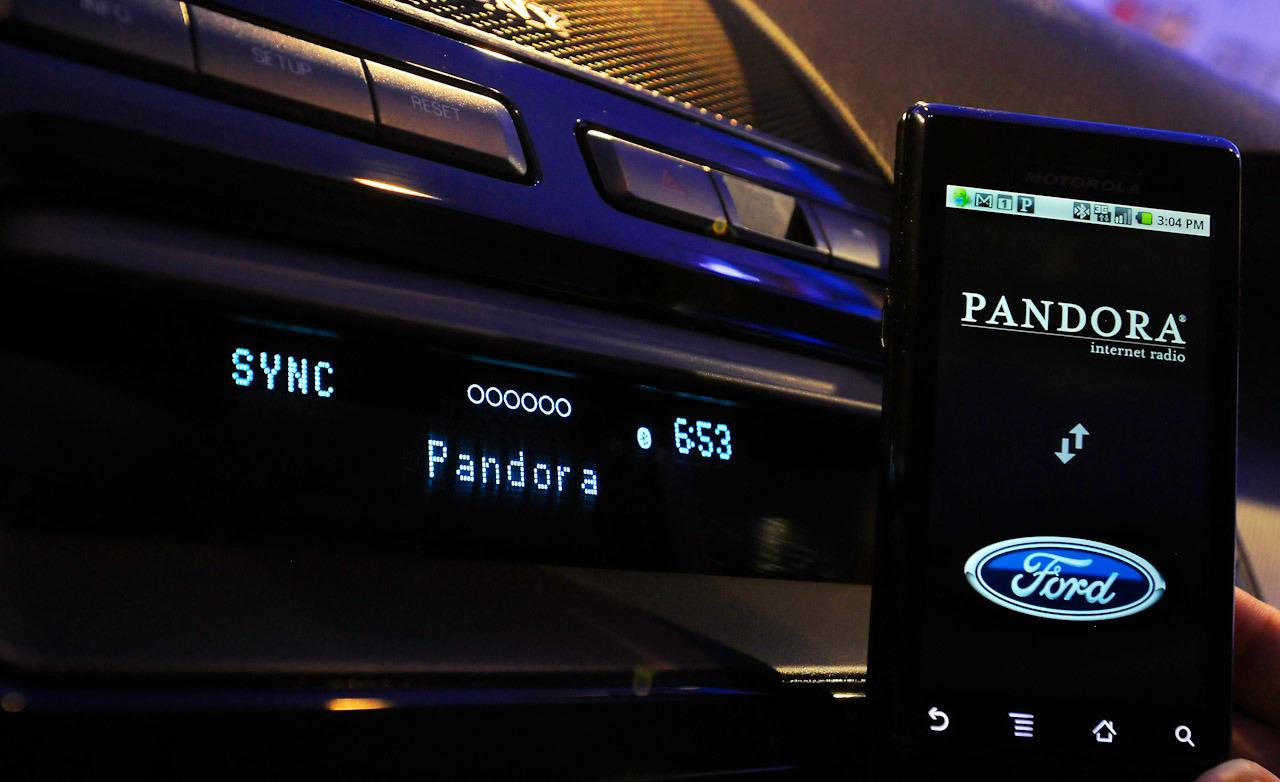 Ford Sync running Pandora application via mobile telephone 1280x782