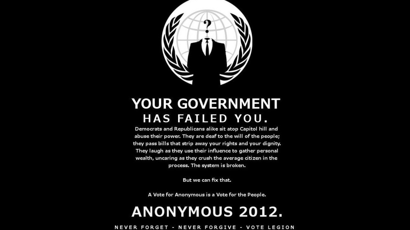 Anonymous Wallpaper 1366x768 Anonymous 1366x768