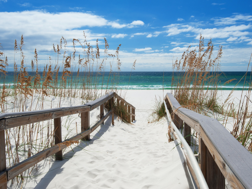 Rain Beach Emerald Coast Blue Sea Australia Ocean Summer: Pensacola Beach Wallpaper